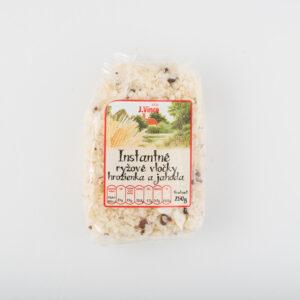 Instantné ryžové vločky hrozienka a jahoda