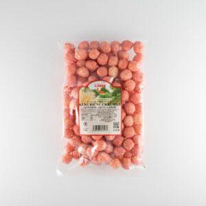 kukuričné chrumky s príchuťou jogrutu a jahody