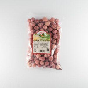 kukuričné chrumky s príchuťou jogurtu a lesného ovocia